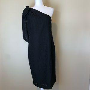 New! Black one shoulder bow Cocktail Dress #3054